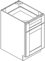 Single Door with Single Drawer