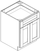 Base Cabinet - Double Door with Single Drawer