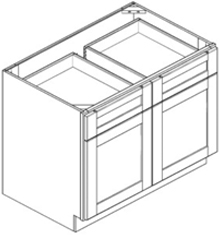 Base Cabinet - Double Door with Double Drawer