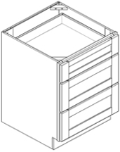 Base Cabinet - Triple Drawer